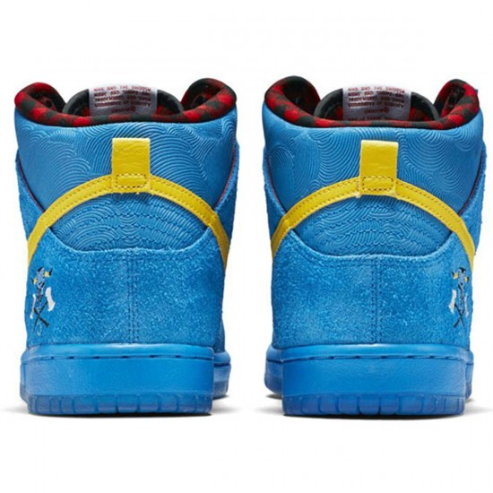 Nike SB x Familia Dunk High Premium SB Shoes - Photo Blue/White/Yellow - 8.0