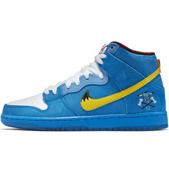newest collection 49564 b0dc9 Nike SB x Familia Dunk High Premium SB Shoes - Photo Blue White Yellow