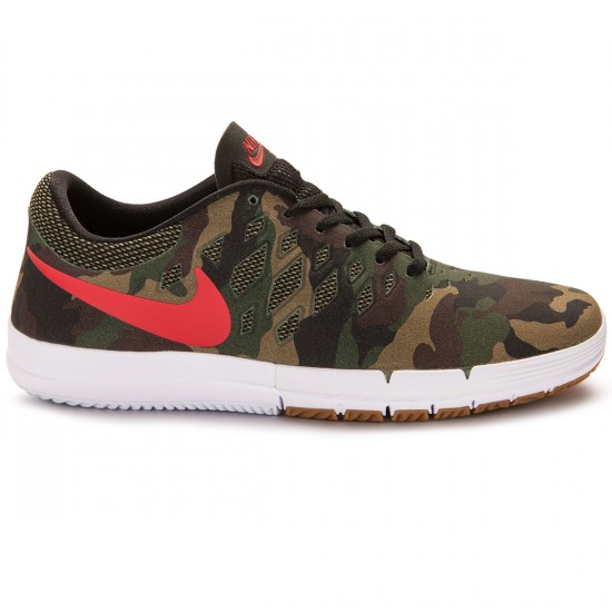 Nike Free SB Rose City QS Shoes - Fortress Green/Black/Red - 14.0