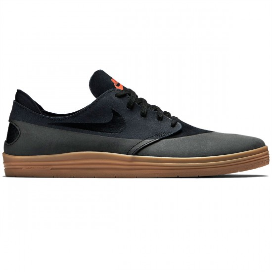 Nike Lunar Oneshot Shoes - Black/Gum Brown/Orange - 6.0