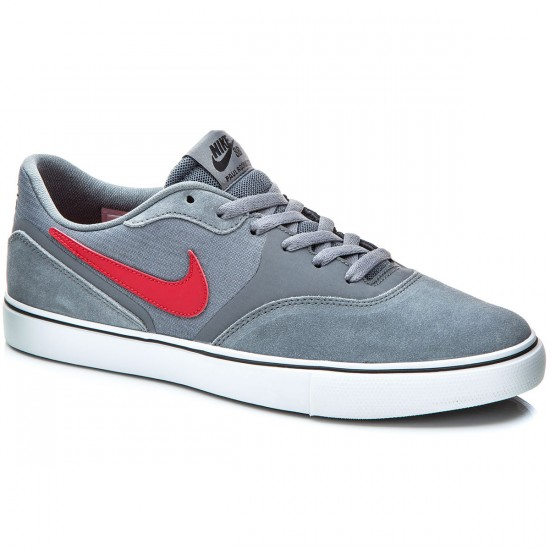 Nike Paul Rodriguez 9 VR Shoes - Grey/White/Red/Dark Obsidian - 6.0