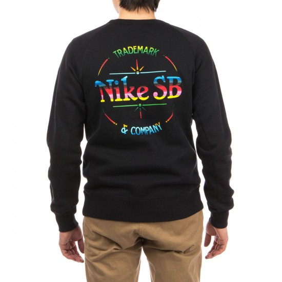 Nike QT SB Blanket Fleece Sweatshirt - Black/Black/Red