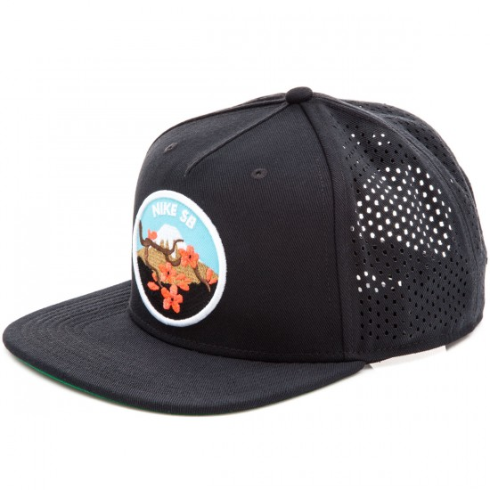 Nike S+ SB Cherry Blossom Perforated Pro Hat - Black
