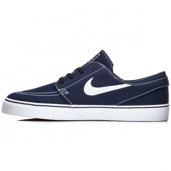 Nike Zoom Stefan Janoski Canvas Shoes - Obsidian/Gum/Light Brown/White - 8.5