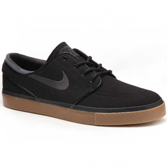 Nike Zoom Stefan Janoski Canvas Shoes - Black/Gum/Brown/Anthracite - 7.0
