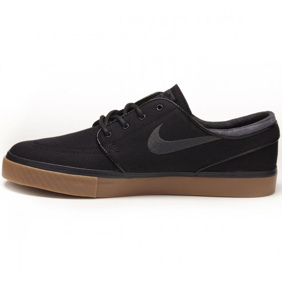 Nike Zoom Stefan Janoski Shoes - Black/Gum/Brown/Anthracite - 8.0