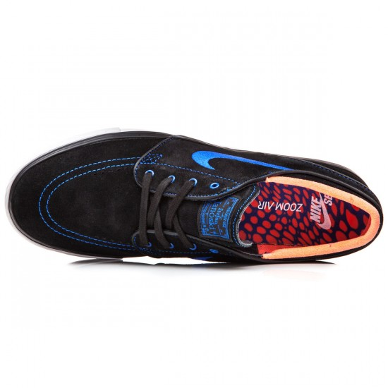 Nike Zoom Stefan Janoski Shoes - Black/White/Crimson Blue - 7.5