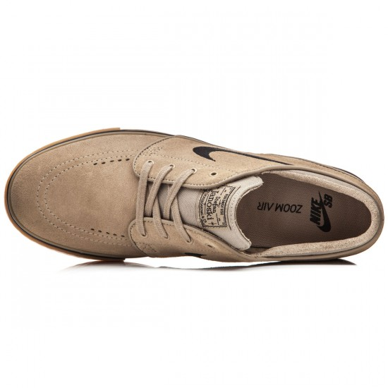 Nike Zoom Stefan Janoski Shoes - Khaki/Gum/Light Brown/Black - 7.0
