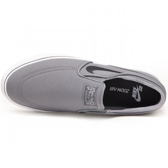 Nike Zoom Stefan Janoski Slip-On Shoes - Grey/White/Black - 7.0