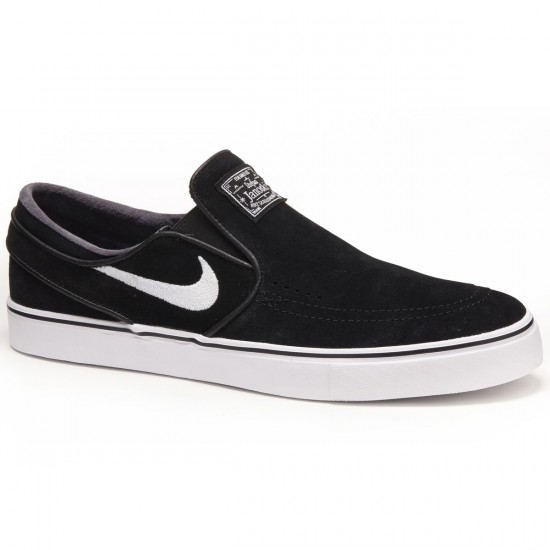 Nike Zoom Stefan Janoski Slip-On Shoes - Black/White - 7.0
