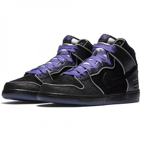 Nike SB Black Box Dunk High Elite Shoes - Black/White/Purple Haze - 6.0