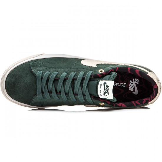 Nike Blazer Low GT Shoes - Grove Green/Red/Bone/Phantom - 7.0