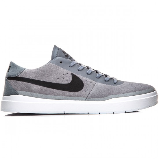 Nike SB Bruin Hyperfeel Shoes - Grey/White/Black - 5.0