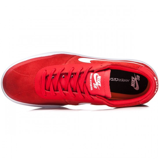 Nike SB Bruin Hyperfeel Shoes - Red/Black/White - 8.0