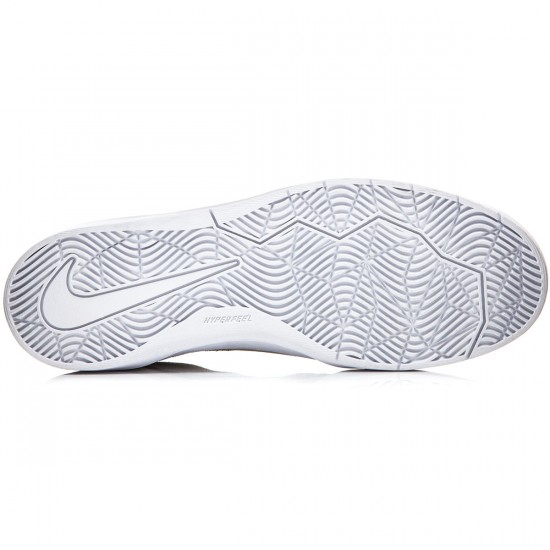 Nike SB Bruin Hyperfeel Shoes - Summit White/White/Black - 7.0