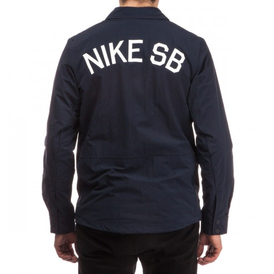 Nike SB Coaches Jacket - Dark Obsidian/White