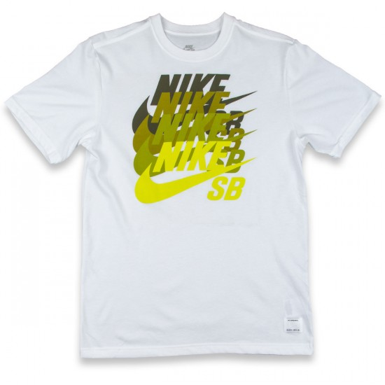 Nike SB DF Icon Blockbuster T-Shirt - White/White/Venom Green