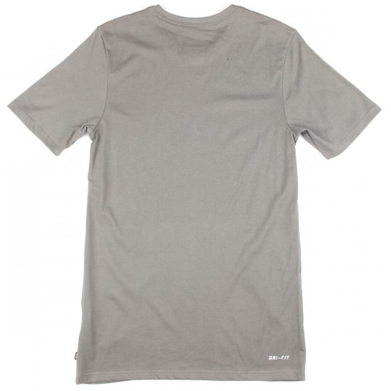 Nike SB DF Icon Logo T-Shirt - Grey/Orange/Cinnabar