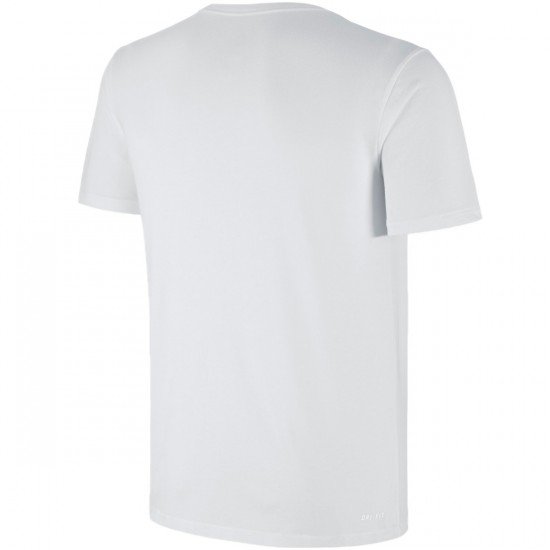 Nike SB Dri Fit Icon Logo T-Shirt - White/White/Villain Red