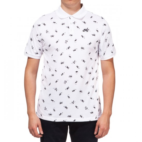 Nike SB Dri-FIT McFetridge Shirt - White/Black