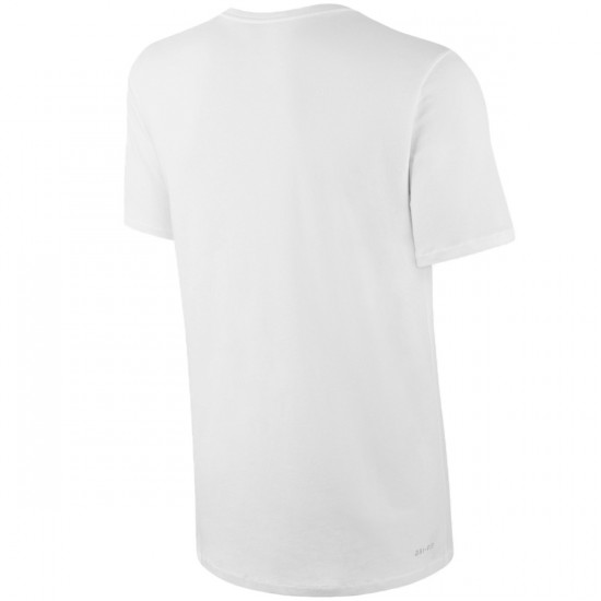 Nike SB Dri Fit Solid V-Neck T-Shirt - White/White