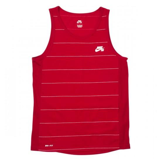 Nike SB Dri-FIT Yarn Dye Tank Top - Red/White