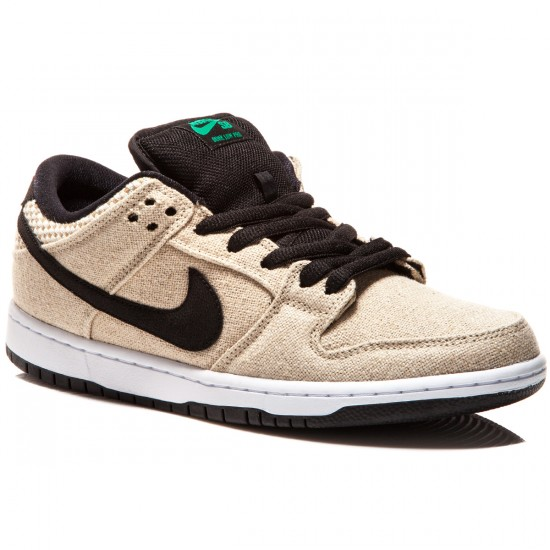 41e55bf533da Nike SB Dunk Low Premium Raw Canvas Shoes - Bamboo White Red Black