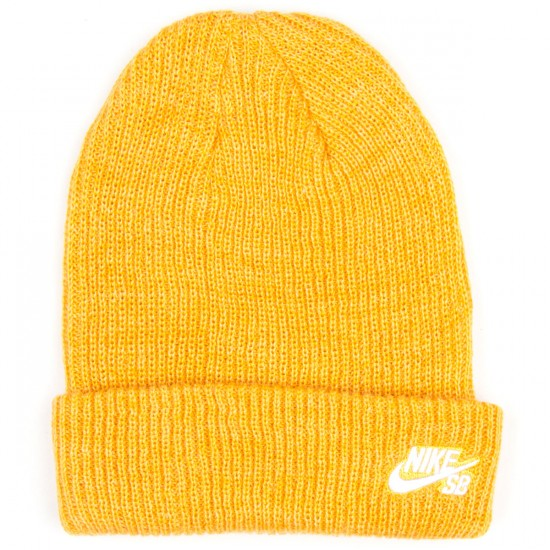Nike SB Fisherman Beanie - Pro Gold Heather/White