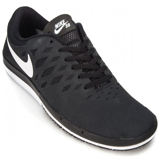 Nike Free SB Shoes - Black/White - 7.5