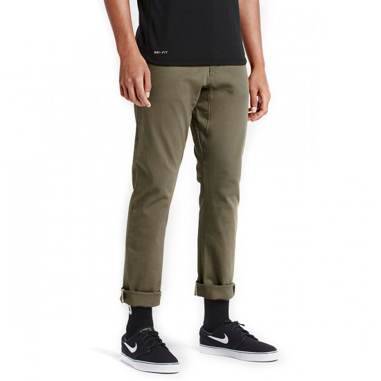 Nike SB FTM 5 Pocket Pants - Medium Olive - 34 - 32