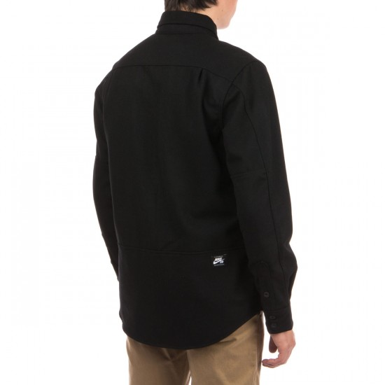 Nike SB Holgate Wool Long Sleeve Shirt - Black