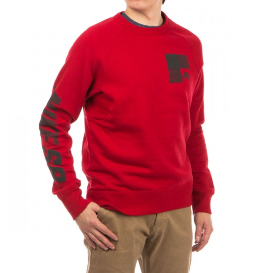 Nike SB Icon Buffalo Plaid Fleece Crew Sweatshirt - Red/Black