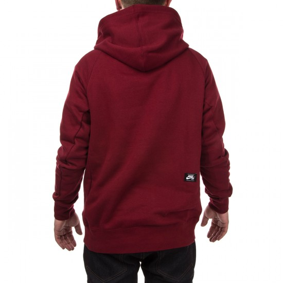 Nike SB Icon Crackle PO Hoodie - Red/Black
