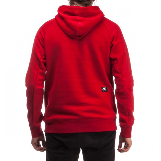 Nike SB Icon Griptape Pullover Hoodie - Red/White