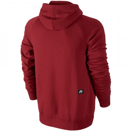Nike SB Icon PO Sweatshirt - Gym Red/White