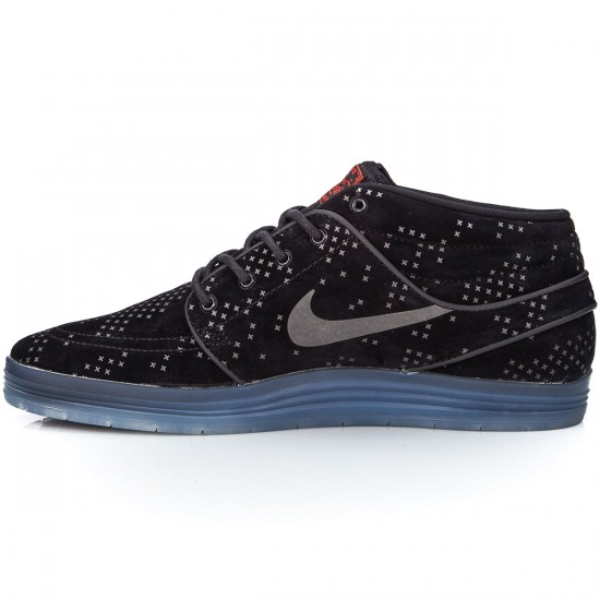 42247e2d8bba Nike SB Lunar Stefan Janoski Mid Flash Shoes - Black Clear Black - 10.0