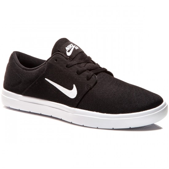 Nike SB Portmore Ultralight Shoes - Black/Black/White - 7.0