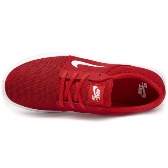 Nike SB Portmore Ultralight Shoes - Red/Red/White - 7.0