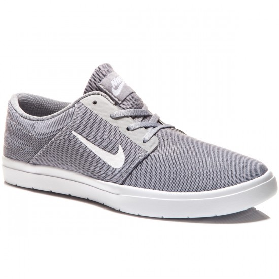 Nike SB Portmore Ultralight Shoes - Wolf Grey/Cool Grey/White