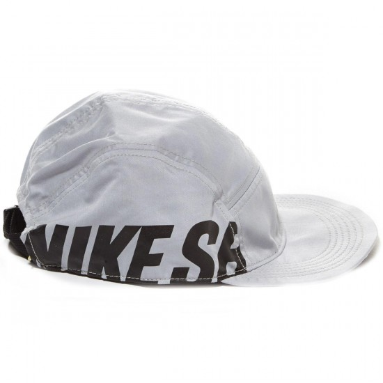 Nike SB Reversible 5 Panel Hat - Grey/Black