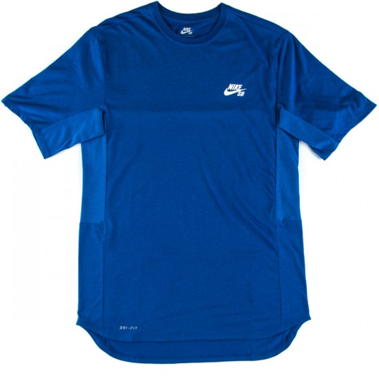 Nike SB Skyline Dri-FIT Cool Graphic Crew T-Shirt - Royal/White