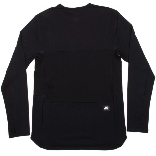 Nike SB Skyline Dri-Fit Cool Long Sleeve Crew T-Shirt - Black/Reflective Silver