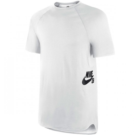 Nike SB Skyline Dri Fit Crew T-Shirt - White/Black