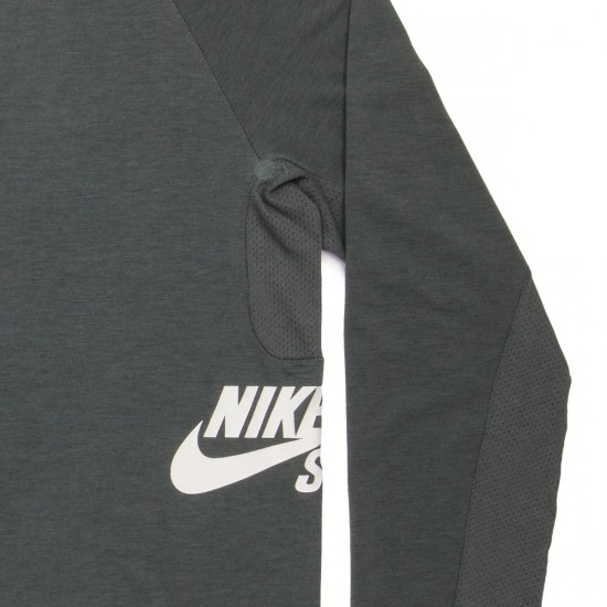 Nike SB Skyline Dri Fit LS Crew Shirt - Bomber Grey