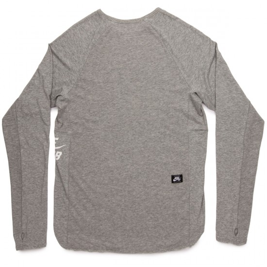 Nike SB Skyline Dri Fit LS Crew Shirt - Dark Grey Heather