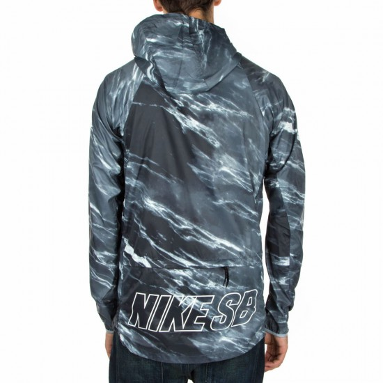 Nike SB Steele Light Weight Marble Jacket - Black/White