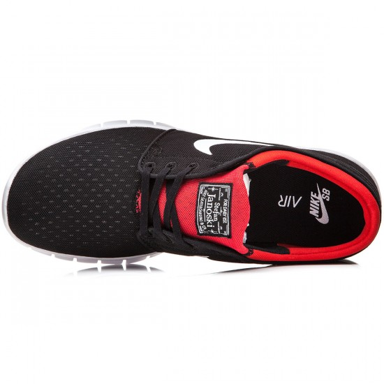 Nike Stefan Janoski Max Shoes - Black/Red/White - 7.0