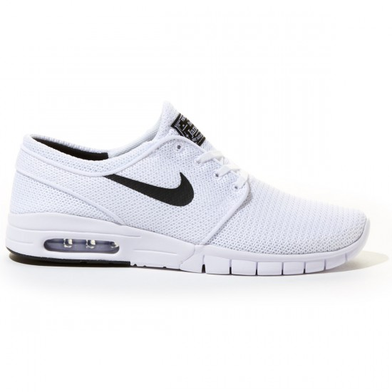 Nike Stefan Janoski Max Shoes - White/Black - 8.0