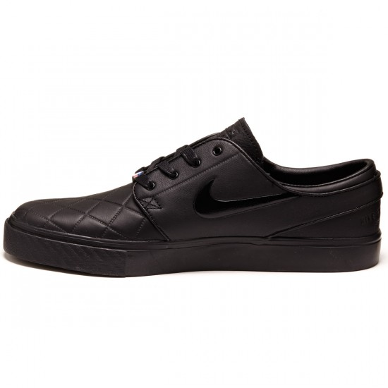 Nike Zoom Stefan Janoski Elite Shoes - Black/Black/Red - 4.0