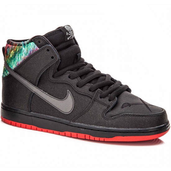 brand new 41607 282a3 Nike SB X SPoT Dunk High Gasparilla Premium Shoes - Black Red Metallic  Silver